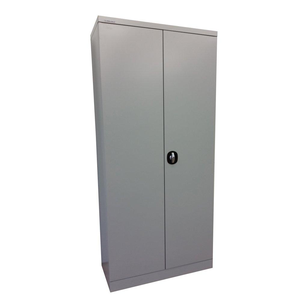 Plåtskåp 1850x850x400 med lådor, Grå Förvaringsskåp Tillverkstaden se